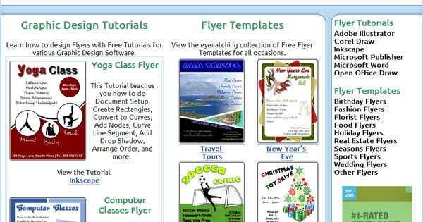 website that teaches flyer creation with corel draw