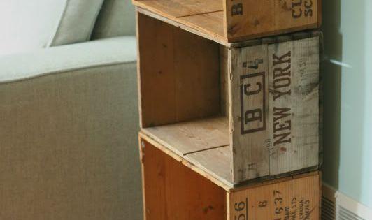 Biblioth que casiers sur roulettes r cup 39 et diy - Ou trouver des caisse en bois ...