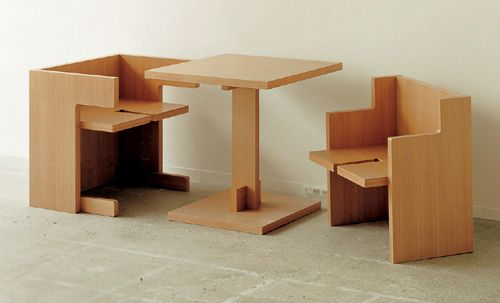 Compact Cube Dining Table Set Small Apartment Furniture Space