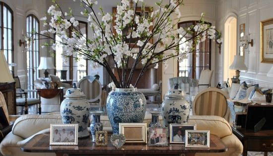 The Enchanted Home: Bloggers beautiful abodes.....Tina from The Enchanted Home. Sofa tables