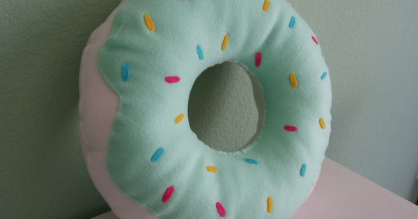 Large Donut Pillow. $20.00, via Etsy. SUPER CUTEEE....reminds me of odd future..go