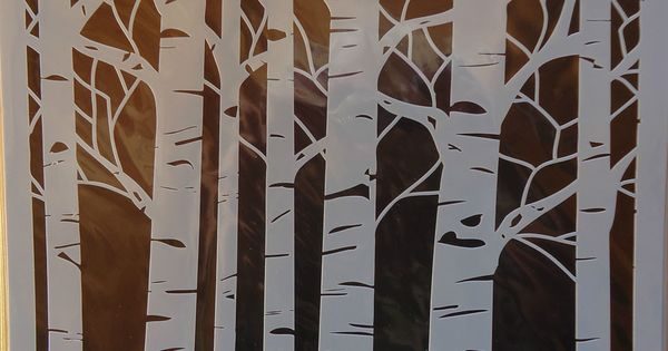 stencil aspen trees 12x12 the crafters workshop template