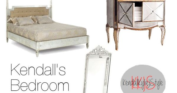 Kendall S Exact Bed Is From Glam Furniture And Is Available Here Her Exact Bedside Table Is