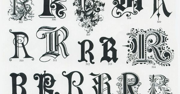 Fancy letters Vector