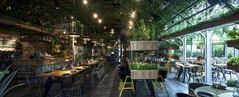 Segev Kitchen Garden Is A New Chef Restaurant Located In Hod Hasharon Near Tel Aviv The Kitchen Garden Restaurant Interior Design Outdoor Restaurant