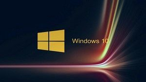 Hd 1920x1080 Windows 10 Wallpaper Golden Logo Windows 10 Logo