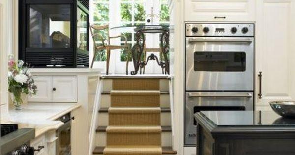 Dream kitchen *stairs to breakfast nook. OMG!! I am in love.