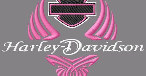 166 Best Images About Harley Davidson On Pinterest: Pink Winged Harley Davidson