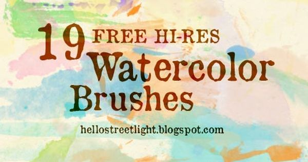 Free Brush Set 12 Watercolor Stamp Brushes By Tau Kast