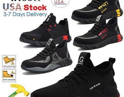 AtreGo Men Safety Shoes Indestructible Steel Toe Bulletproof Midsole Work Boots