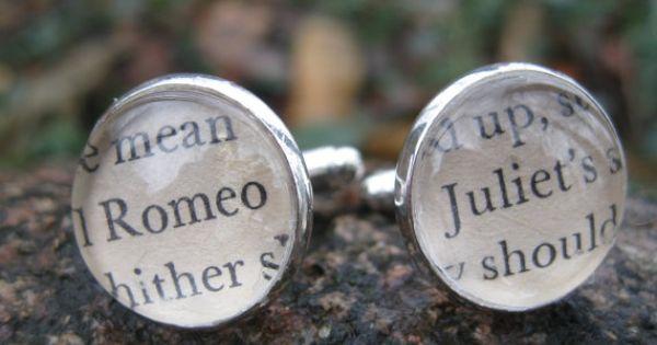 Romeo Amp Juliet Shakespeare Cufflinks Wedding By TreeTownPaper 2400