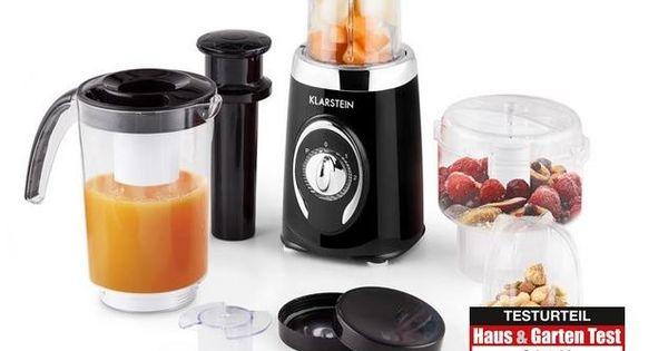 Klarstein Fruizooka Mixer Smoothiemaker 4 In 1 Kuchenmixer Gesundes Obst Und Gemuse Smoothie