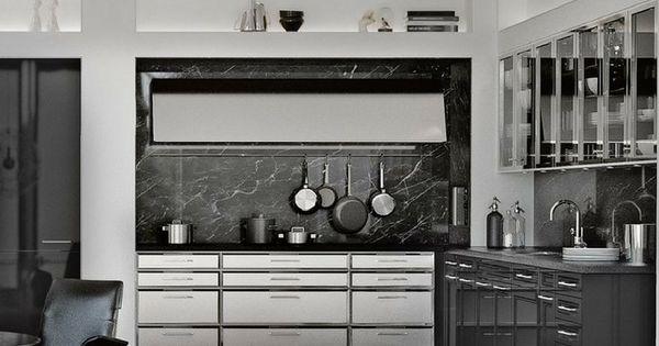 Marmor Küchen Vorteile, Nachteile Und Beispiele Mit Bildern   Haecker Lack  Matt Schwarz