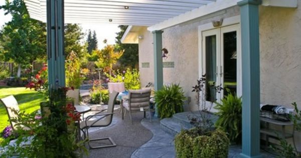 Attached Patio Cover Attached Shade Cover Landplan S Landscaping Pleasanton Ca Patio Pergola Covered Patio