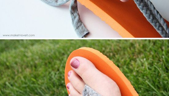 Salvage ripped flip flops by making a more comfortable version. | 41
