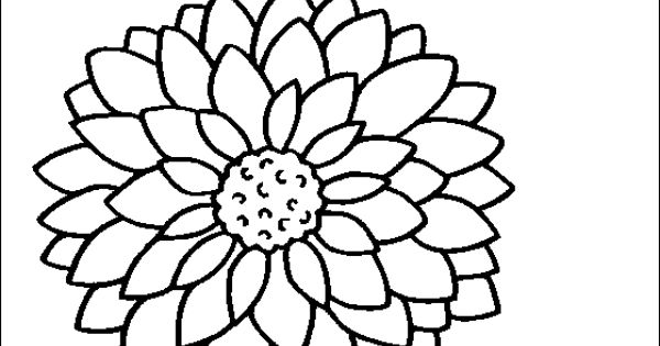 flower Page Printable Coloring Sheets Dahlia coloring