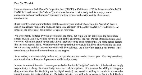 What follows is, perhaps, the most polite cease and desist ever - cease and desist template trademark