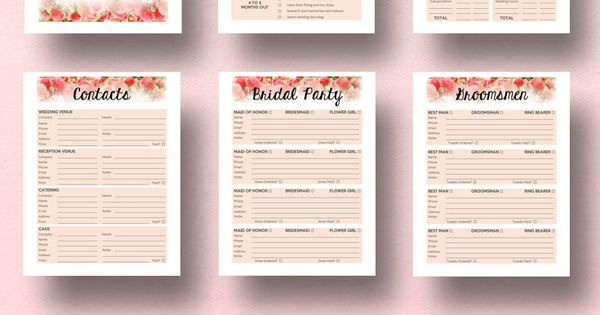 Diy Wedding Planner Book