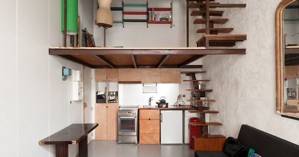 Incredible use of space architecture pinterest - Idee amenagement cuisine petit espace ...