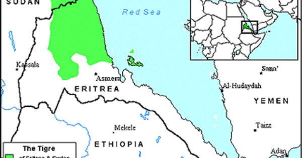 Pray Tigre of Eritrea map JOSHUA PROJECT MISSIONS Pinterest