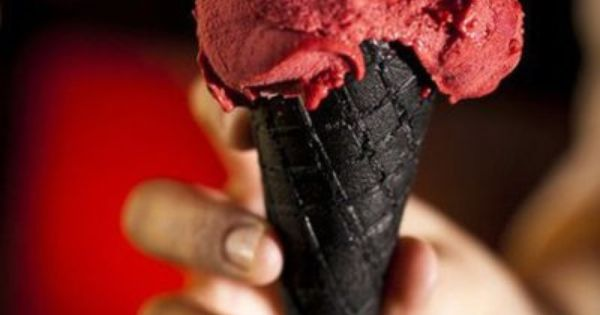 Red Velvet Ice Cream comebined with a Dark Chocolate Ice Cream Cone?