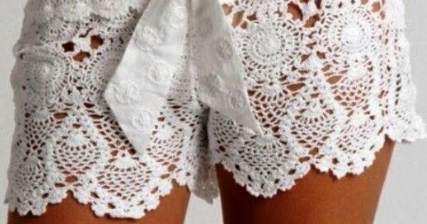 Free Crochet Pattern For Lace Shorts : Crochet Lace Beach Shorts - Free Pattern and Guide Sexy ...