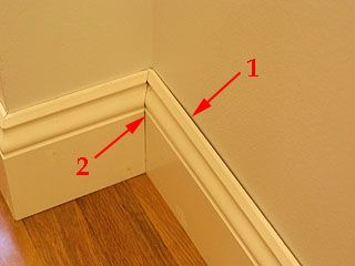Baseboard Areas That Get Caulk Instead Of Filler There Are Two Types Of Gaps That I Fill Will Caulk Instead Of Wood Put Baseboards Moldings And Trim Wood Trim