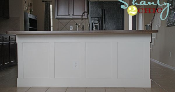 Diy Breakfast Bar Frame Built To An Existing Kitchen Island: DIY Board And Batten Kitchen Island