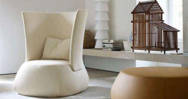 Fauteuil contemporain en cuir tissu dossier haut fat b b italia b b italia pinterest - Canape b b italia ...