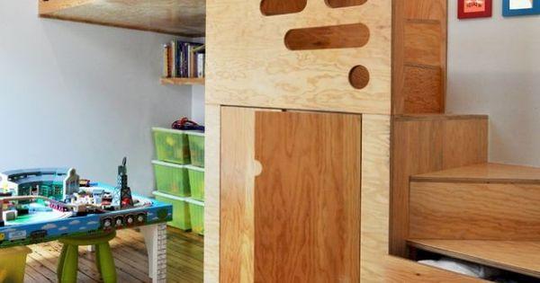 design kinderbett modern holz leiter hochbett bip de. Black Bedroom Furniture Sets. Home Design Ideas