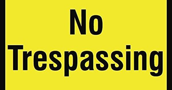 No Trespassing Sign 12x18 Aluminum Metal 6 Pack Private Property Do Not Enter Large Signs