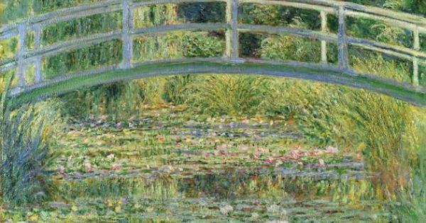 "Found it at Wayfair - ""Waterlily Pond"" by Claude Monet Painting Print"