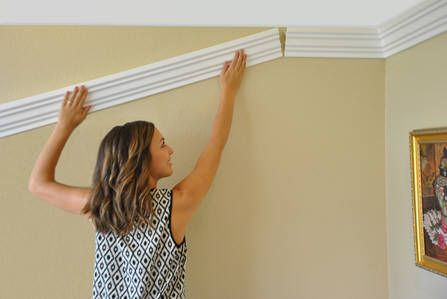 Creative Crown Molding Being Installed Foam Crown Molding Crown