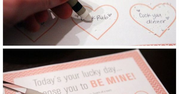 Screw valentines day, DIY scratch off cards is a cute idea in