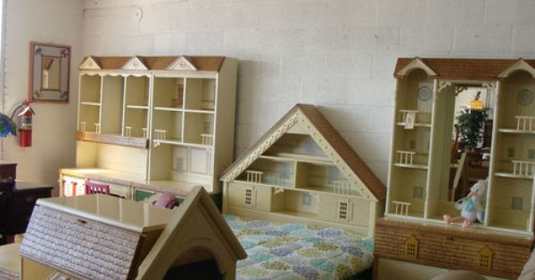 Vintage 1980 S Singer Dollhouse 11 Piece Bedroom Set