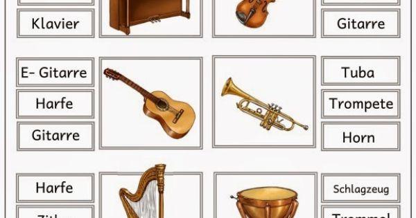 klammerkarte musikinstrumente musikunterricht pinterest musik school and kindergarten. Black Bedroom Furniture Sets. Home Design Ideas
