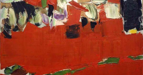 Olivier Debre 1959 Rouge Des Hauts Huile Sur Toile 140 X 149 Abstrait Les Arts Comment Peindre
