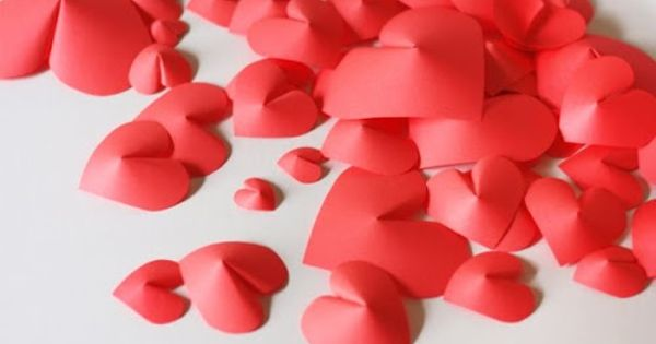 Id es d co st valentin diy des petits c urs en 3d d co for Idee deco 3d