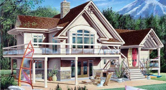 Coastal Craftsman Traditional House Plan 65157