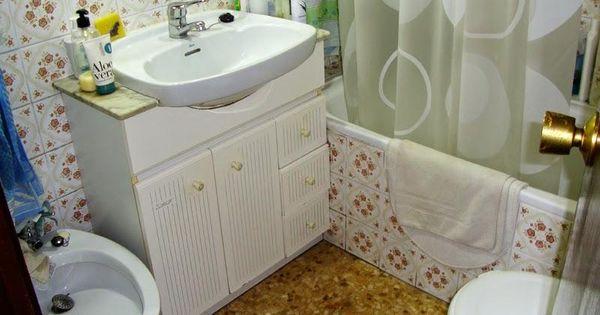 Reforma completa en un cuarto de ba o pintar las - Pintar baldosas de bano ...