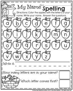49+ Preschool name spelling worksheets Top