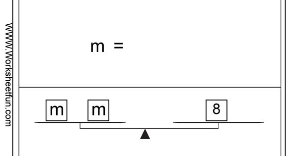 Pan balance problems - difference between m+2=8 and 2m=8 ...