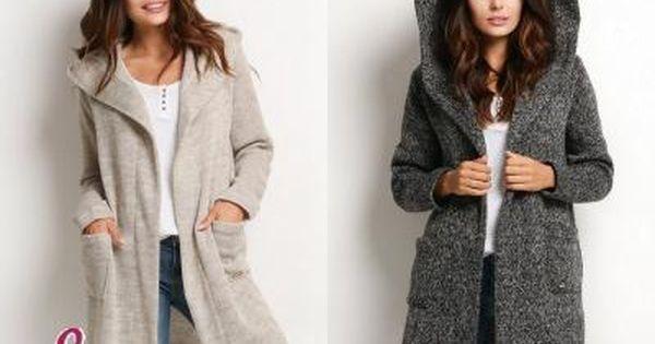 Dlugi Cieply Sweter Kardigan Narzutka Kaptur S M 5724303136 Oficjalne Archiwum Allegro Fashion Sweaters Cardigan