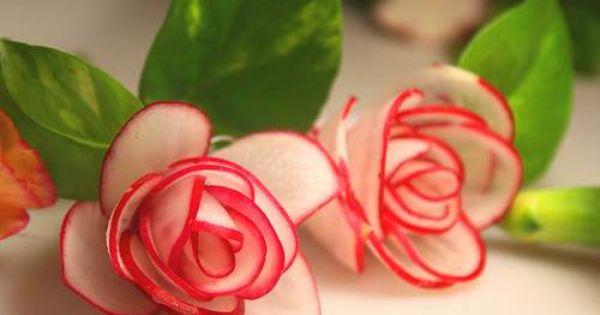 Zdja Cie Nr 1 W Galerii Kwiaty Z Warzyw I Owoca W A Deccoria Pl Radish Flowers Food Sculpture Edible Flowers