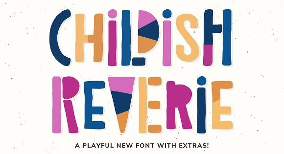 Childish Reverie is a playful font, doodle style with endless possibilities