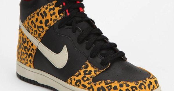 cheeta print high top nikes