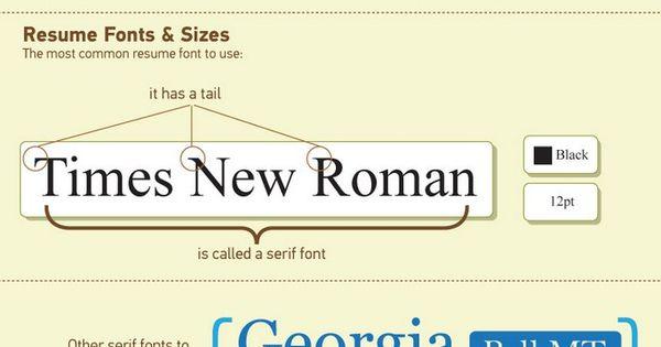 Pinterest u2022 The worldu0027s catalog of ideas - proper font size for resume