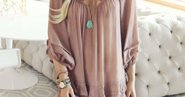Festival Dress in Sand... a gorgeous boho dress for the spring &