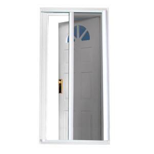Andersen 36 In X 80 In 3000 Series Terratone Right Hand Fullview Easy Install Aluminum Storm Door With Nickel Hardware 3fvnezr36te Retractable Screen Door Retractable Screen Painted Screen Doors