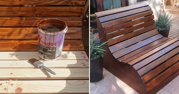 diy fabriquer un banc de jardin en bois mobilier de. Black Bedroom Furniture Sets. Home Design Ideas